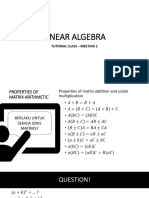 Review Meeting 2 - Linear Algebra