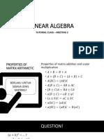Review Meeting 2 - Linear Algebra