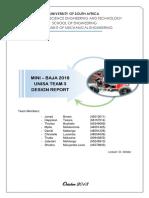 Baja2018 Unisa Team3 Design Report