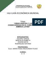Crisis Asiática y Las Consecuencias en El Comercio de América Latina...