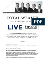 The Total Wealth Symposium
