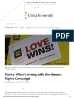 Marks- What's Wrong With the Human Rights Campaign - Emerald Media