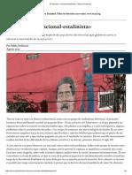 Stefanoni El retroceso «nacional-estalinista» _ Nueva Sociedad