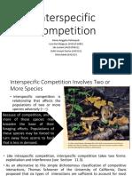 Interspecific Competition Lisa Ida Ockti Rahid