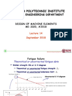 Design of Machine Elements - Lecture 14 Fatigue Failure 2018 Slides