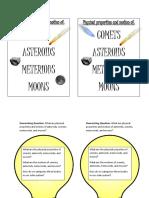 Asteroids, Comets, Meteoroids