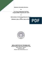IMBA - Information Brochure