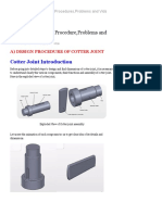 Cotter Joint _ Design Procedure,Problems & Question Answer