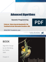 Advanced Algorithms TUTORIAL 6 Dynamic Programming