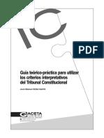 SOSA SACIO - Criterios de interpretación constitucional + Criterios de interpretación de los derechos fundamentales