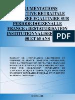 PREUVATION ARGUMENTEE SYSTEME RETRAITAL DOUZENNAL FRANCE