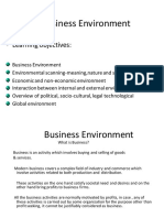 Unit 1 Factors Effecting Environment of Business, Economic Factors and Its Components