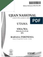 Ujian Nasional Bahasa Indonesia SMA/MA