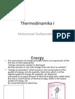 Termodinamika I Pertemuan Kedua