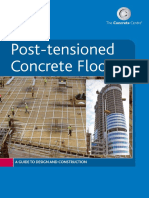 Post-tensioned Concrete Floors – the Concrete Centre
