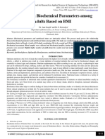 Variations in Biochemical Parameters among Adults Based on BMI