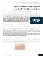 A Compact Open Slot Antenna with Improved Circular Polarization for Satellite Applications