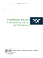 Effectiveness of Participative Management in the Industrial Sector of Kerala [www.writekraft.com]
