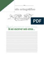 exercicio ortografico