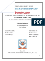 MARKETING ANALYSIS OF HINDWARE