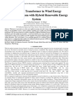 Solid State Transformer in Wind Energy Conversion System with Hybrid Renewable Energy System