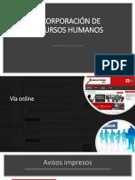 Incorporación de Recursos Humanos