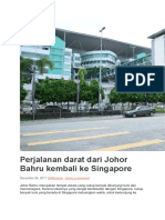 Dari Johor Bahru Kembali Ke Singapore