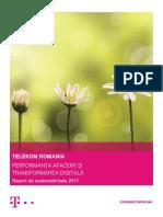 Raport de Sustenabilitate Telekom Romania 2017 RO