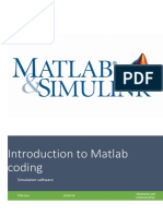Introduction to Matlab coding
