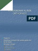 Pemeriksaan Klinik Orthopaedi,,131009
