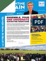 La Lettre de Votre Députée,. Journal n° 2 - Juin 2018.