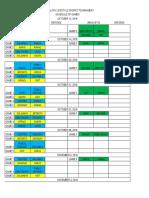 Final Tournament Schedule