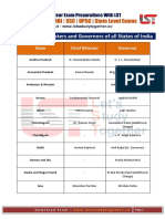 List of Chief Ministers & Governors