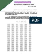 Ras Pre Result PDF