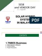 Solar Hybrid System in Malaysia - TNB ES