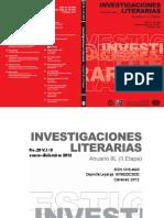 Investigaciones Literarias ANUARIO IIL (II ETAPA) No. 20. V. I/ II enero - diciembre / 2012. UCV Venezuela