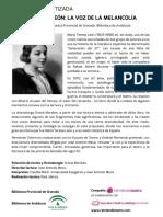 PROGRAMA de MANO Lectura Dramatizada María Teresa León - Biblioteca de Andalucía