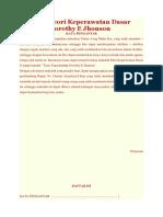 Makalah Teori Keperawatan Dasar Menurut Dorothy E Jhonson