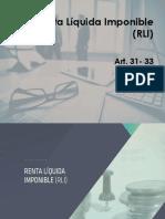 Renta Liquida Imponible (RLI)
