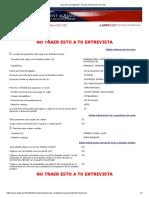 Visa de No Inmigrante - Revisar Información de Viaje