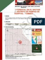 TUMBES - Tumbes - Pampas de Hospital (Boliche) Incendio Forestal (Reporte Complementario 02)