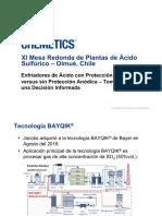 MESA REDONDA 2016 - CHEMETICS - Esfriadores de Ácido Con Protección Anódica Versus Sin Protección Anódica