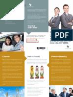Pieghevole opportunità di business nel Network Marketing con la Forever Living Products (italiano)