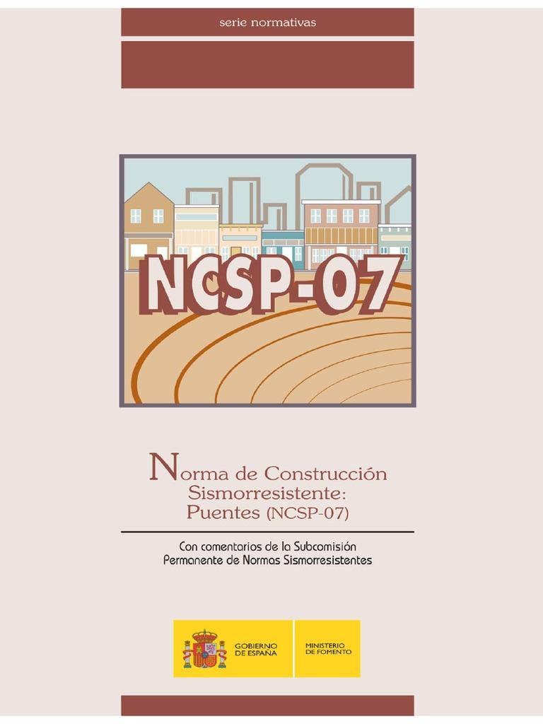 NCSP 07 (NormaDeConstruccionSismoresistente Puentes) PDF   Temblores    Puente