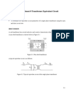 Experiment 8 Transformer Equivalent Circuit
