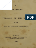 A Brief History of the Versions of the Bible of the English and Roman Churches