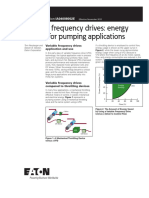 Variable Frequency Drives Energy Savings for Pumping Applications