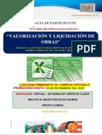Brochure Valorización y Liquidación Con Excel. Noviembre 2018