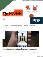 20 Ideas Para Ser Lo Máximo en Instagram - LuisMARAM