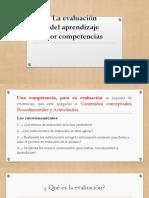 Evaluación Del Aprendizaje Por Competencia